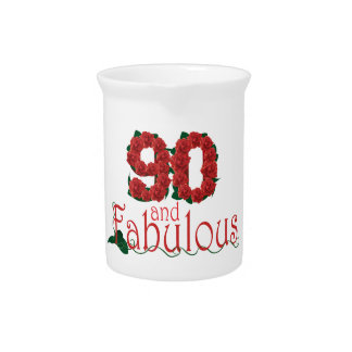 90th birthday flower pitcher