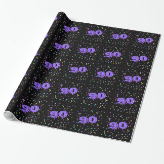 90th Birthday Gift Wrap Wrapping Paper