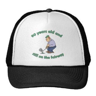 90th Birthday Golfer Gag Gift Trucker Hat