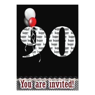 90th Birthday Invitation