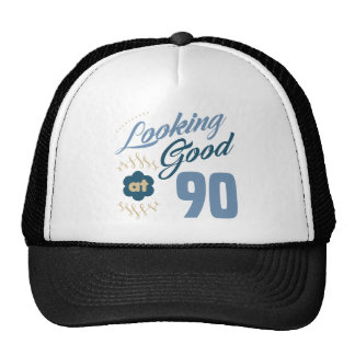 90th Birthday Looking Good Trucker Hat