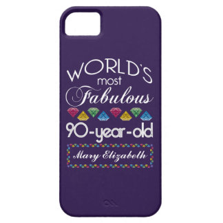90th Birthday Most Fabulous Colorful Gems Purple iPhone 5/5S Cases