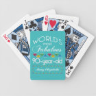 90th Birthday Most Fabulous Colourful Gem Bicycle Playing Cards
