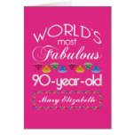 90th Birthday Most Fabulous Colourful Gems Pink
