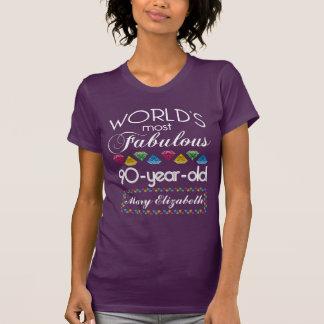 90th Birthday Most Fabulous Colourful Gems Purple T-Shirt