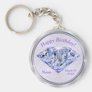 90th Birthday Party Favors PERSONALIZED for Her Keychain