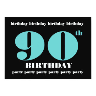90th Birthday Party Invitation Template