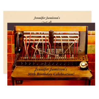90th Birthday Party Invitation Vintage Switchboard