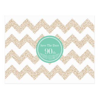 90th Birthday Party Save the Date Choose Color Postcard