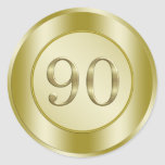 90th Birthday Party Stickers