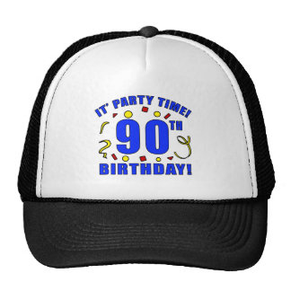 90th Birthday Party Time Trucker Hat