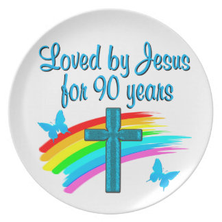 90TH BIRTHDAY PRAYER DINNER PLATE