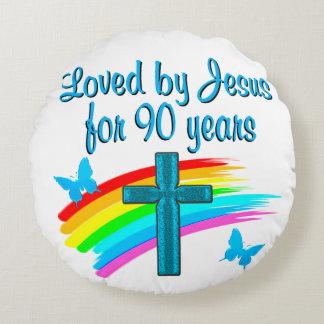 90TH BIRTHDAY PRAYER ROUND PILLOW