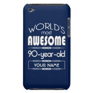 90th Birthday Worlds Best Fabulous Dark Blue iPod Case-Mate Case