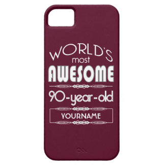 90th Birthday Worlds Best Fabulous Dark Red Cover For iPhone 5/5S