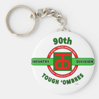 """90TH INFANTRY DIVISION """"TOUGH 'OMBRES"""" DIVISION KEYCHAINS"""