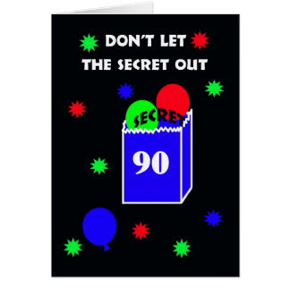 90th Surprise Birthday Party Invitation -- Secret