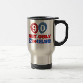 90th year birthday designs travel mug