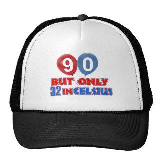 90th year birthday designs trucker hat