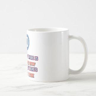 90th year old snow on the roof birthday designs coffee mug
