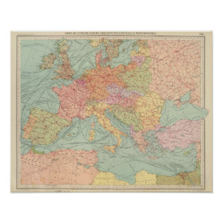 910 Lines of Communication, Central Europe Poster