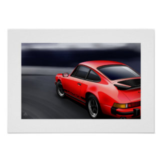 911 Carrera Sports coupe Poster Illustration