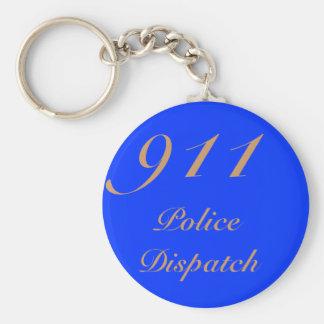 911 Dispatch Center Basic Round Button Keychain