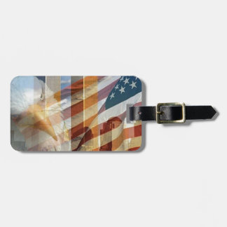 911 eagle flag towers luggage tag