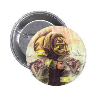 911 Fireman Angels 2 Inch Round Button