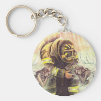 911 Fireman Angels Keychain