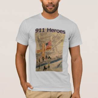 911 HEROES New York City American  T-shirt