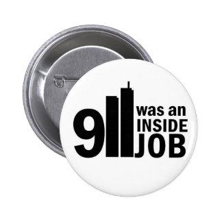 911 inside job badge 2 inch round button