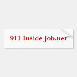 911 Inside Job.net Bumper Sticker