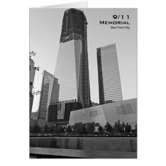 911 Memorial NYC Blank Card BW8
