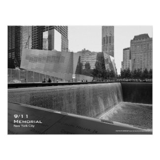 911 Memorial NYC Poster 24x18 BW4