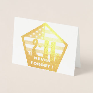 911 never forget foil greeting card