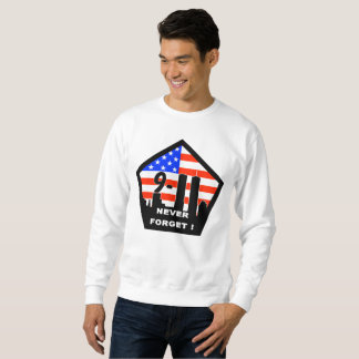 911 never forget mens sweatshirt