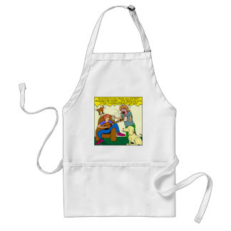 911 thank you card cartoon standard apron