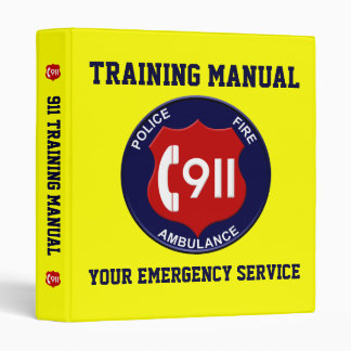 911 Training & Manual Binder
