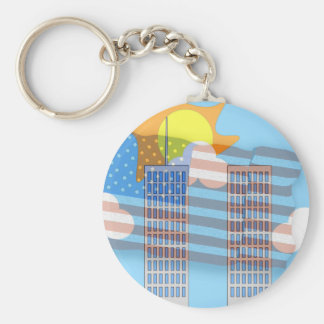 911 Tribute - Plain Keychain
