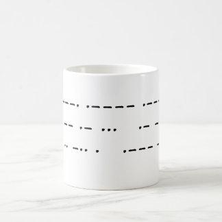 911 was an inside job (morse code) coffee mug