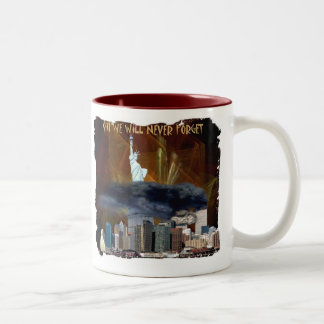 911 We Will Never Forget Two-Tone Coffee Mug
