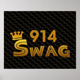 914 Area Code Swag Print