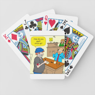 916 stick up at the bank cartoon bicycle playing cards