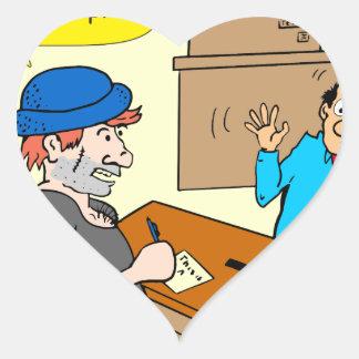 916 stick up at the bank cartoon heart sticker