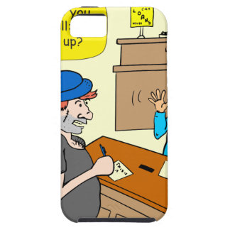 916 stick up at the bank cartoon iPhone 5 cover