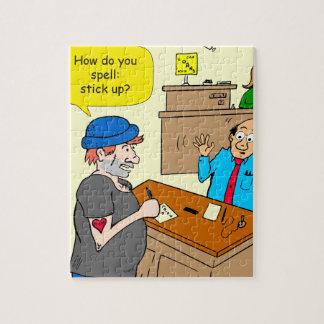 916 stick up at the bank cartoon jigsaw puzzle