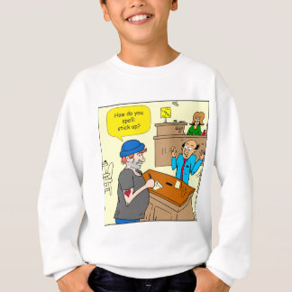 916 stick up at the bank cartoon sweatshirt