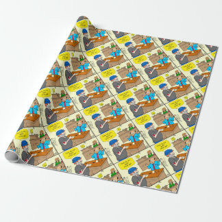 916 stick up at the bank cartoon wrapping paper