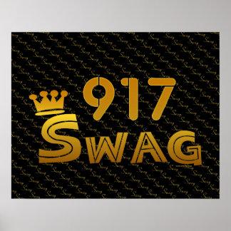 917 Area Code Swag Print